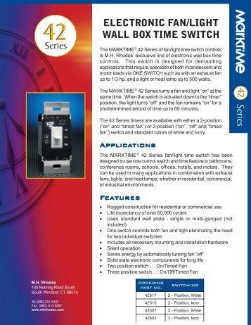 ELECTRONIC FAN/LIGHT WALL BOX TIME SWITCH Series