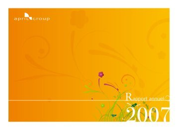 Lire le rapport d'activité 2007 - April