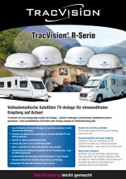 Sat-Empfang leicht gemacht - TracVision, Satellite Television for ...