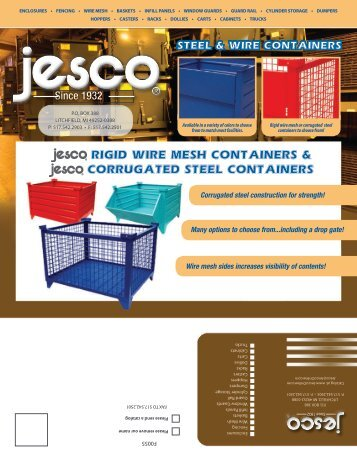 RIGID WIRE MESH CONTAINERS & CORRUGATED STEEL ...