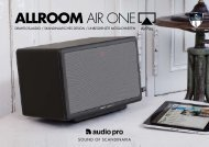 ALLROOM AIR ONE - Audio Pro