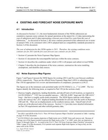 4 existing and forecast noise exposure maps - Los Angeles World ...