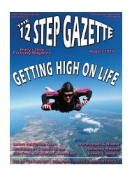 August 2010 - 12 Step Gazette