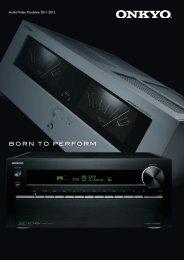 Audio/Video Produkte 2011-2012 - Onkyo