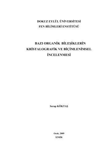 r - Fen Bilimleri Enstitüsü - Dokuz Eylül Üniversitesi