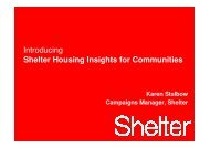 Karen Stalbow, Campaigns Manager, Shelter