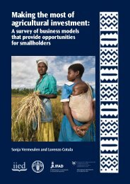Making the Most of Agricultural Investment: a Survey - IFAD