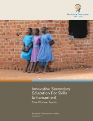 Innovative Secondary Education For Skills Enhancement