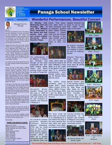 FINAL NEWSLETTER of 2009-2010 - Panaga School
