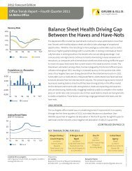 Balance Sheet Health Driving Gap Between the ... - Grubb & Ellis