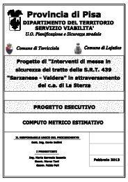 Computo Metrico Estimativo - Provincia di Pisa