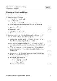 Klausur zu Gerade und Ebene - Philipp-Reis-Schule