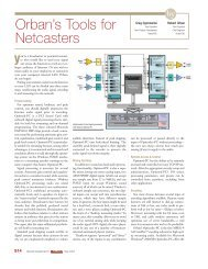 Orban's Tools for Netcasters
