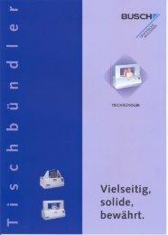 Prospekt Tischbündler - Gerhard BUSCH GmbH
