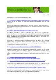 Energie.Update Januar 2011 powered by Wibke Brems