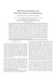 Distributed Estimation and Detection under Local Information