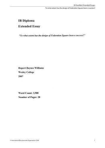 50 Excellent Extended Essays To what extent has the design of ...