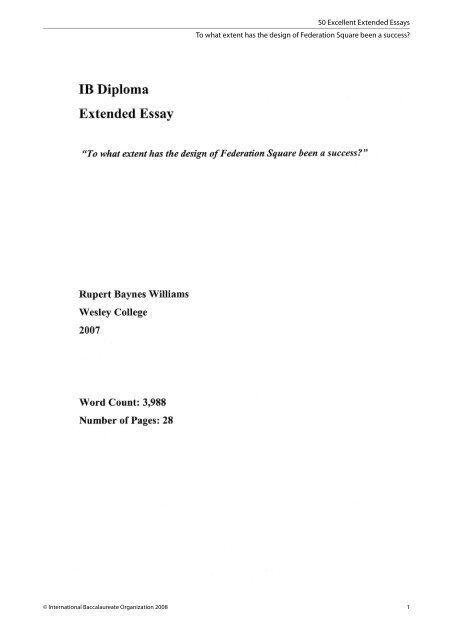 excellent extended essays to what extent has the design of   excellent extended essays to what extent has the design of