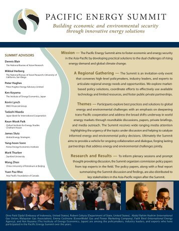 Pacific Energy Summit brochure - Asia Pacific Foundation of Canada