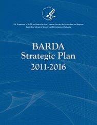 BARDA Strategic Plan 2011-2016 - PHE