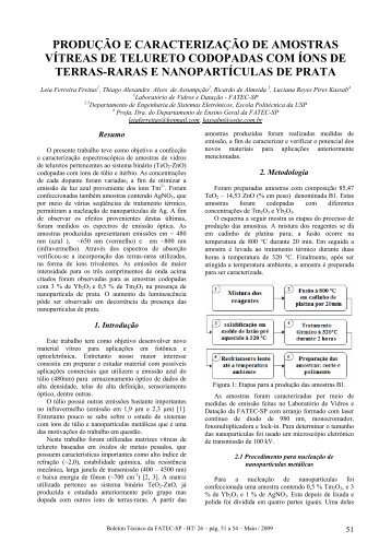 modelo para resumo expandido - Boletim Técnico da FATEC-SP ...