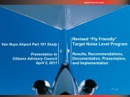 "Revised ""Fly Friendly"" Target Noise Level Program"