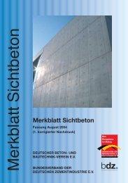 Merkblatt Sichtbeton - Deutscher Beton- und Bautechnik-Verein eV