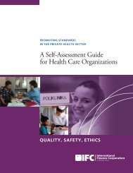 A Self-Assessment Guide for Health Care Organizations - IFC