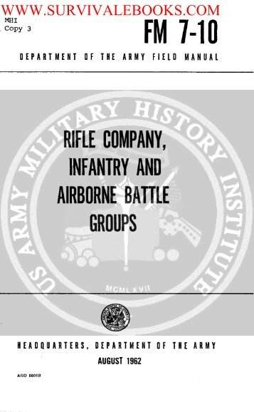 Rifle Company, Infantry and Airborne Battle Groups - Survival Books
