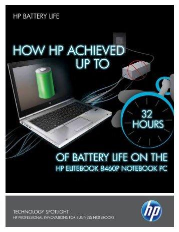 Technology Spotlight: HP Battery Life (280 KB, PDF - Hewlett-Packard