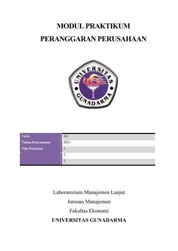 modul praktikum peranggaran perusahaan - iLab - Universitas ...