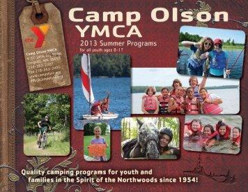 Click for 2013 Program Brochure online! - Camp Olson YMCA