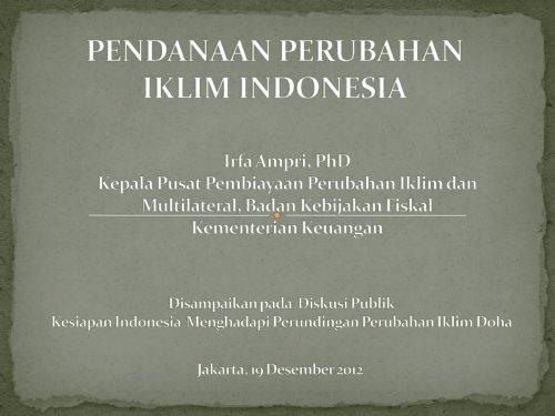 Pendanaan Perubahan Iklim Indonesia - IESR