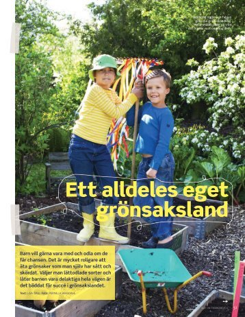 Allt om Trädgård Nr 8, 2012 – Odla med barn - Lisa Ising