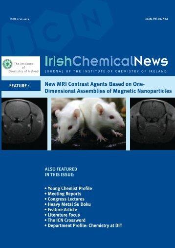 Irish Chemical News 2008 Vol 24 No 2 - Institute of Chemistry of ...
