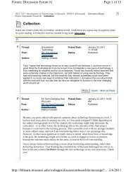 Collection Page 1 of 15 Forum: Discussion Forum #1 2/6/2011 http ...
