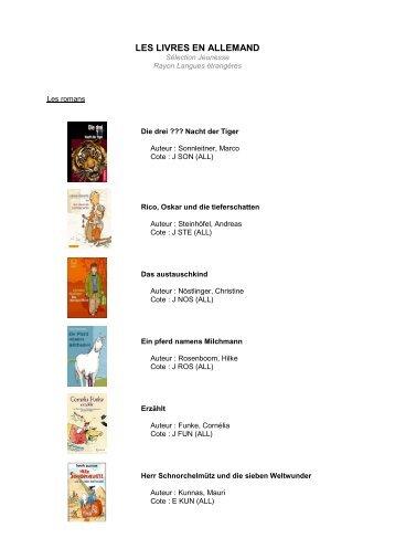 les livres en allemand - Médiathèque et Ludothèque de Blagnac