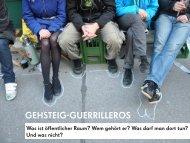 Vortrag Gehsteig-Guerrilleros - Stadt-Umland Management