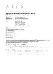 Protokoll GV 2013 - ALIS