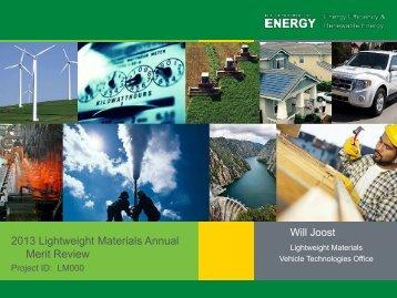 Lightweight Materials Overview