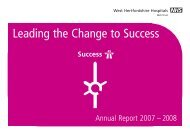2007/2008 Annual Report - West Hertfordshire Hospitals NHS Trust