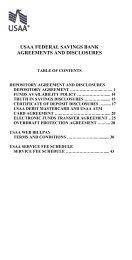 Usaa Cashiers Check >> Usaa Federal Savings Bank Agreements And
