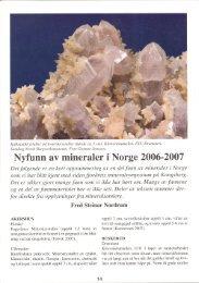 Nyfunn av mineraler i Norge 2006-2007 pdf - NAGS