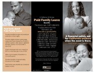 Paid Family Leave Brochure - State of California