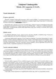 Talajtani Vándorgyűlés Miskolc, 2012. augusztus 23-24-(25).