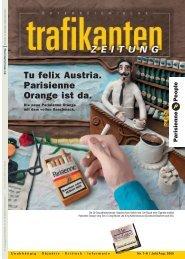 Tu felix Austria. Parisienne Orange ist da. - Trafikantenzeitung