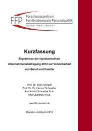 Kurzfassung - Forschungszentrum Familienbewusste Personalpolitik