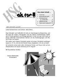 Heft 4 für das Schuljahr 2010 / 2011 - HSG