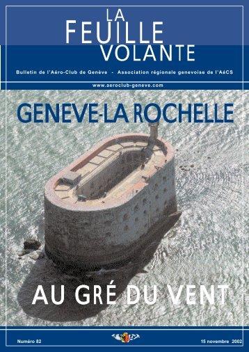 AU GRÉ DU VENT GENEVE-LA ROCHELLE - Aeroclub de Genève