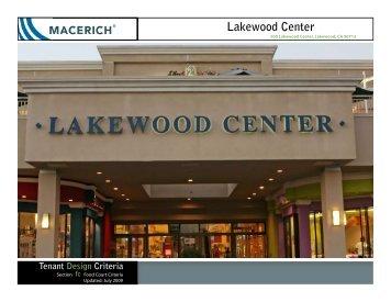 Lakewood Center Food Court Criteria Manual - Macerich